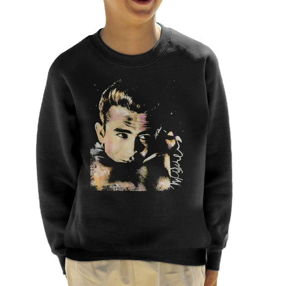 Sidney Maurer Original Portrait Of James Dean Quiff Kid's Sweatshirt