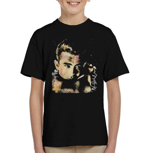 Sidney Maurer Original Portrait Of James Dean Quiff Kid's T-Shirt