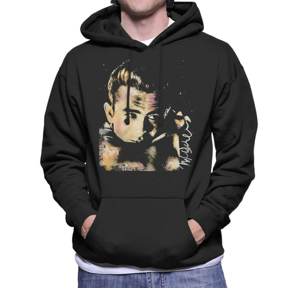 Sidney Maurer Original Portrait Of James Dean Quiff Men's Hooded Sweatshirt