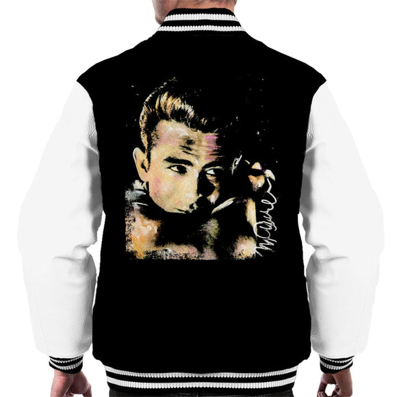 Sidney Maurer Original Portrait Of James Dean Quiff Men's Varsity Jacket