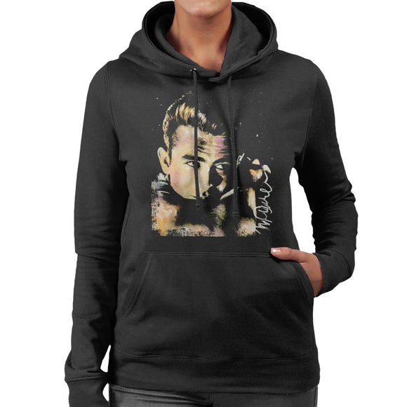 Sidney Maurer Original Portrait Of James Dean Quiff Women's Hooded Sweatshirt