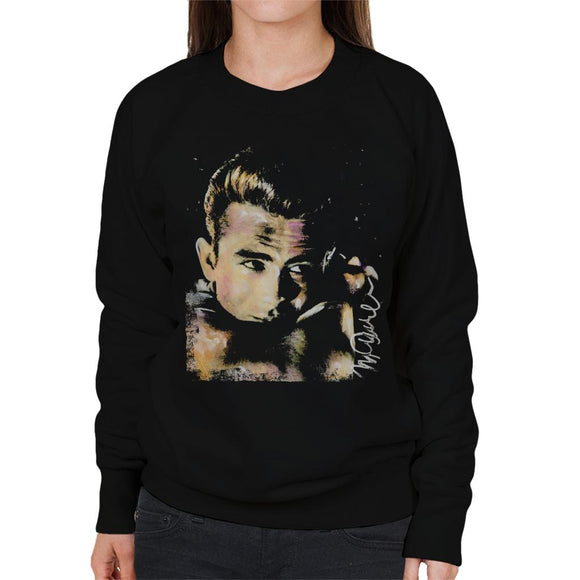 Sidney Maurer Original Portrait Of James Dean Quiff Women's Sweatshirt