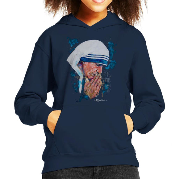 Sidney Maurer Original Portrait Of Mother Teresa Kid's Hooded Sweatshirt