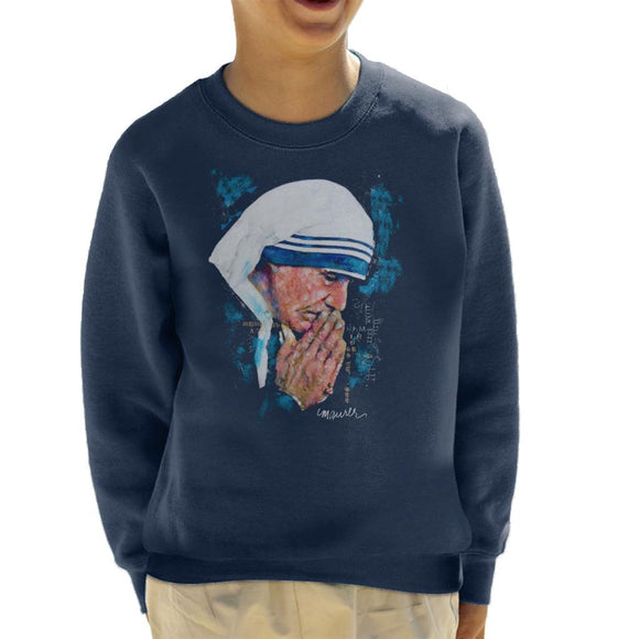 Sidney Maurer Original Portrait Of Mother Teresa Kid's Sweatshirt