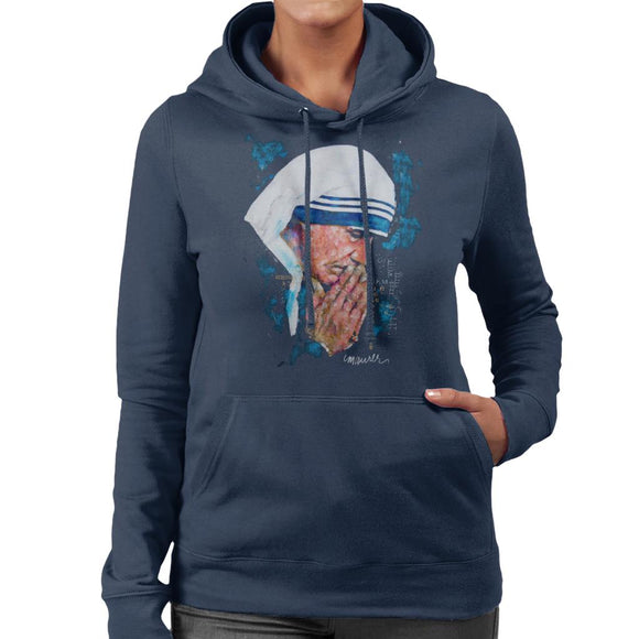 Sidney Maurer Original Portrait Of Mother Teresa Women's Hooded Sweatshirt