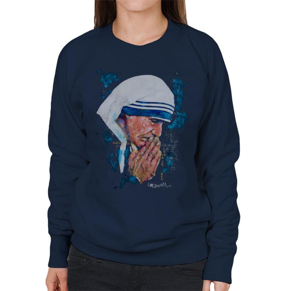 Sidney Maurer Original Portrait Of Mother Teresa Women's Sweatshirt