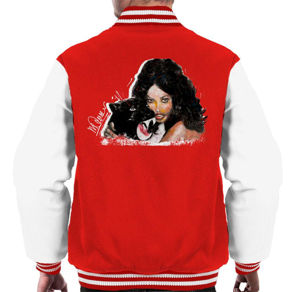 Sidney Maurer Original Portrait Of Naomi Campbell Panther Men's Varsity Jacket