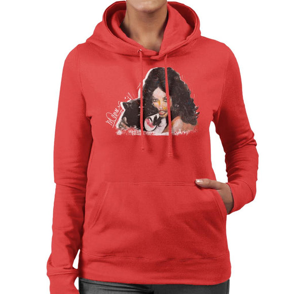 Sidney Maurer Original Portrait Of Naomi Campbell Panther Women's Hooded Sweatshirt