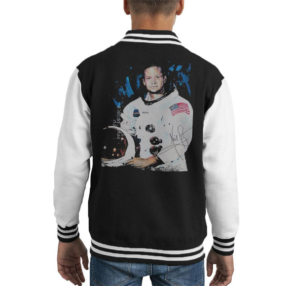 Sidney Maurer Original Portrait Of Neil Armstrong Space Suit Kid's Varsity Jacket
