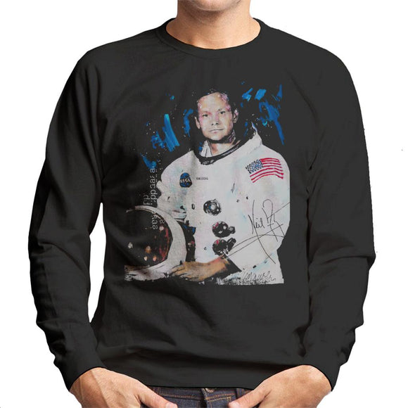 Sidney Maurer Original Portrait Of Neil Armstrong Space Suit Men's Sweatshirt