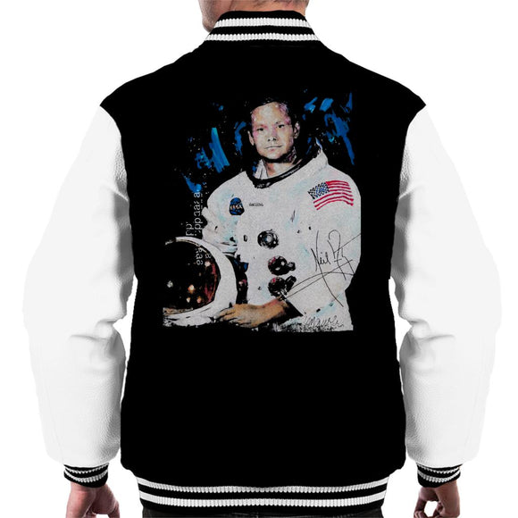 Sidney Maurer Original Portrait Of Neil Armstrong Space Suit Men's Varsity Jacket