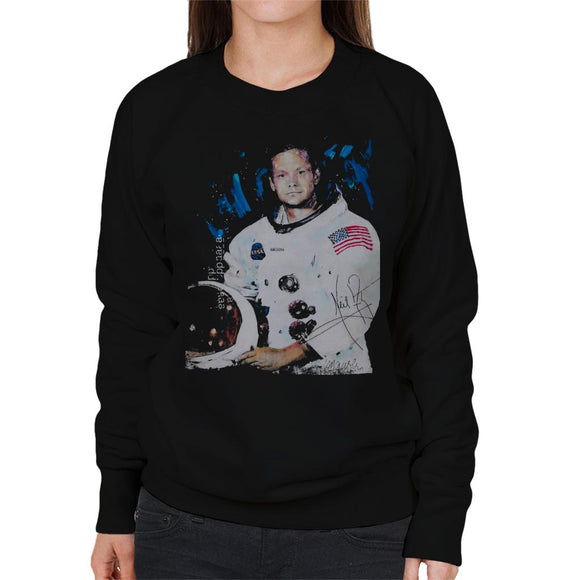 Sidney Maurer Original Portrait Of Neil Armstrong Space Suit Women's Sweatshirt