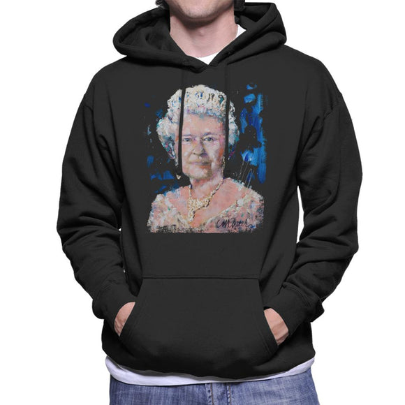 Sidney Maurer Original Portrait Of Queen Elizabeth II Men's Hooded Sweatshirt