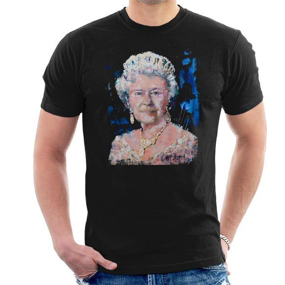 Sidney Maurer Original Portrait Of Queen Elizabeth II Men's T-Shirt