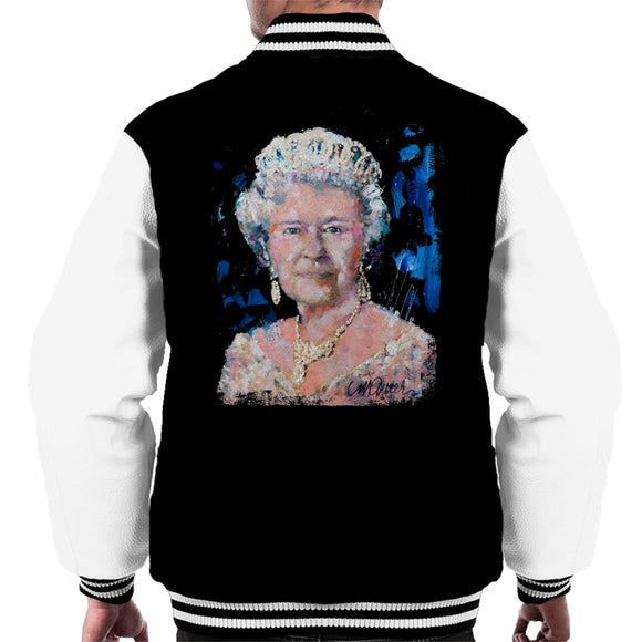Sidney Maurer Original Portrait Of Queen Elizabeth II Men's Varsity Jacket