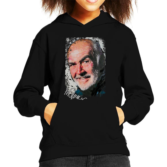Sidney Maurer Original Portrait Of Actor Sean Connery Kid's Hooded Sweatshirt