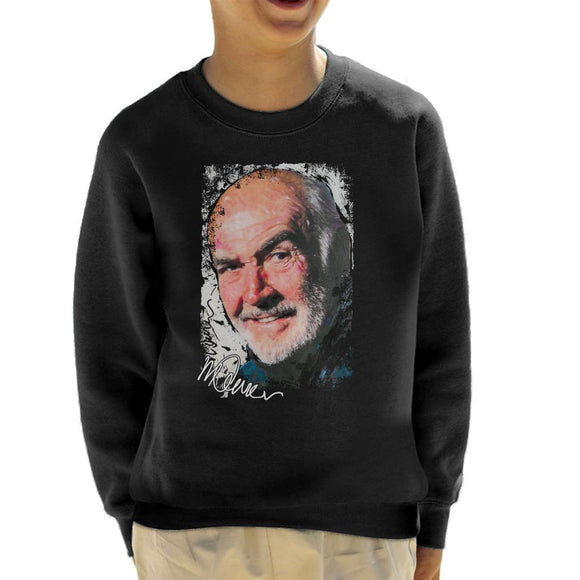 Sidney Maurer Original Portrait Of Actor Sean Connery Kid's Sweatshirt