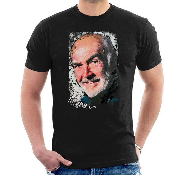 Sidney Maurer Original Portrait Of Actor Sean Connery Men's T-Shirt