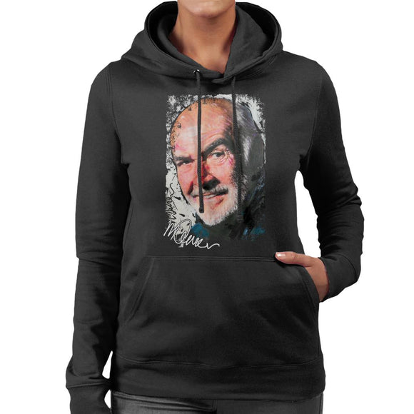 Sidney Maurer Original Portrait Of Actor Sean Connery Women's Hooded Sweatshirt