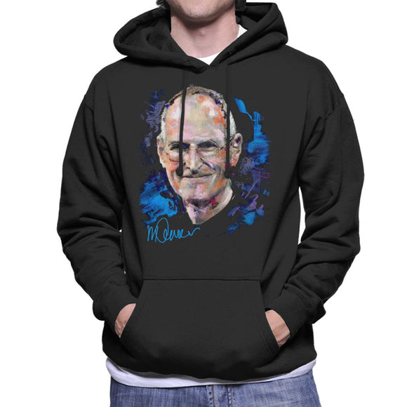 Sidney Maurer Original Portrait Of Steve Jobs Men's Hooded Sweatshirt