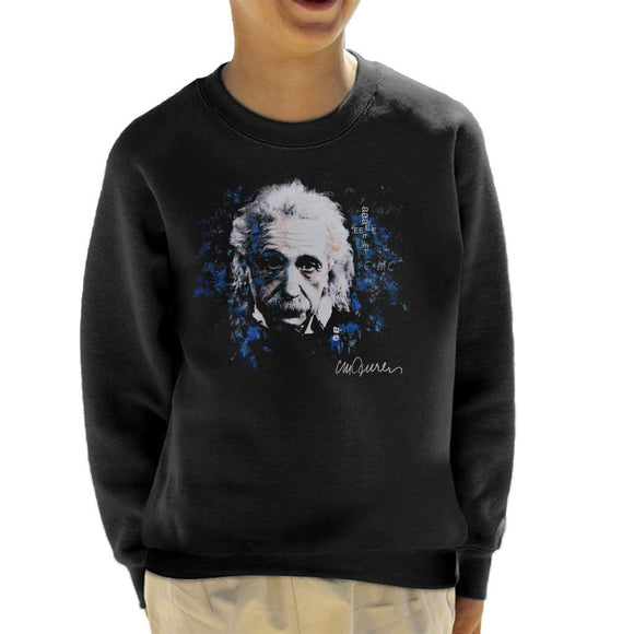 Sidney Maurer Original Portrait Of Albert Einstein E Equals MC2 Kid's Sweatshirt