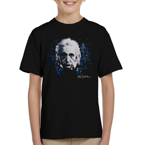 Sidney Maurer Original Portrait Of Albert Einstein E Equals MC2 Kid's T-Shirt