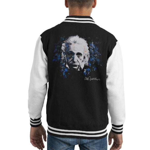 Sidney Maurer Original Portrait Of Albert Einstein E Equals MC2 Kid's Varsity Jacket