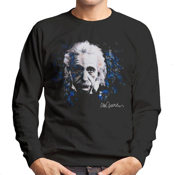 Sidney Maurer Original Portrait Of Albert Einstein E Equals MC2 Men's Sweatshirt