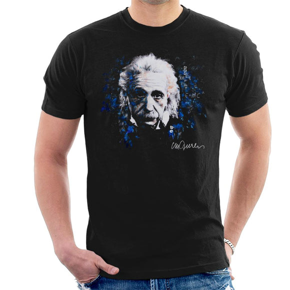 Sidney Maurer Original Portrait Of Albert Einstein E Equals MC2 Men's T-Shirt