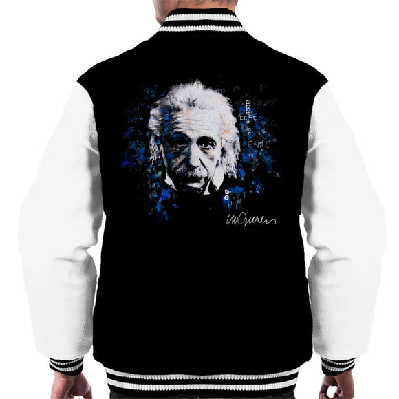 Sidney Maurer Original Portrait Of Albert Einstein E Equals MC2 Men's Varsity Jacket