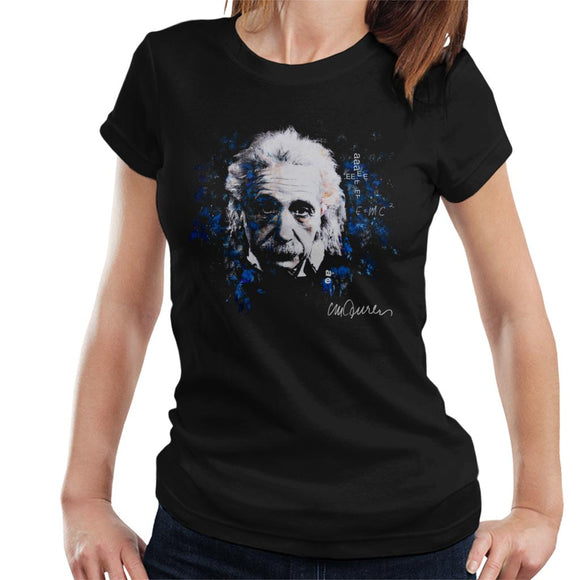 Sidney Maurer Original Portrait Of Albert Einstein E Equals MC2 Women's T-Shirt