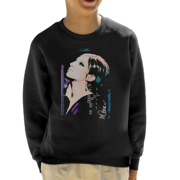 Sidney Maurer Original Portrait Of Actress Barbra Streisand Kid's Sweatshirt