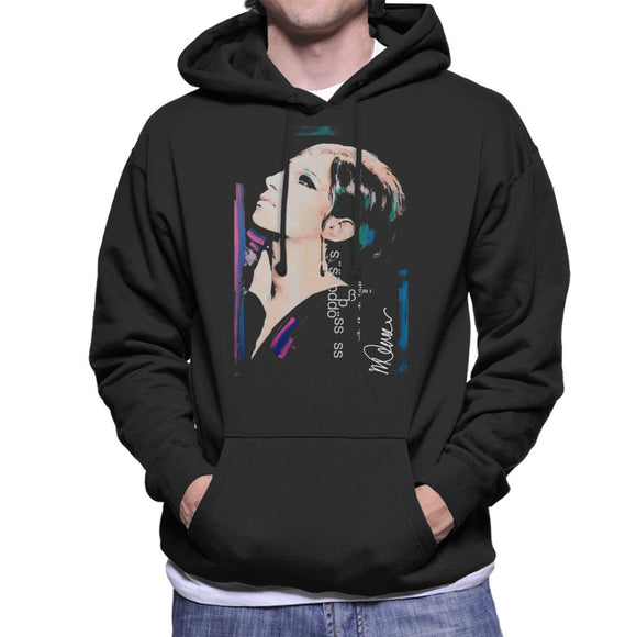 Sidney Maurer Original Portrait Of Actress Barbra Streisand Men's Hooded Sweatshirt