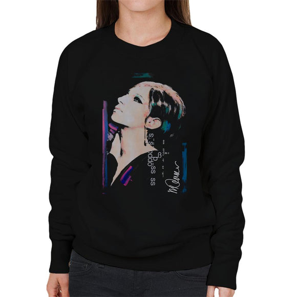 Sidney Maurer Original Portrait Of Actress Barbra Streisand Women's Sweatshirt