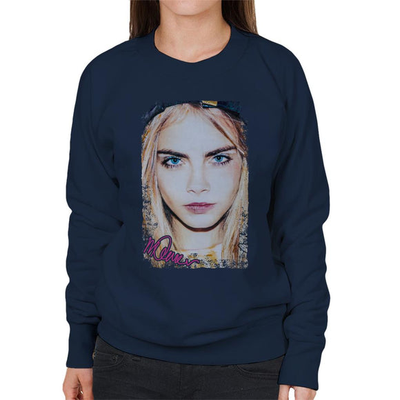Sidney Maurer Original Portrait Of Actress Cara Delevingne Women's Sweatshirt