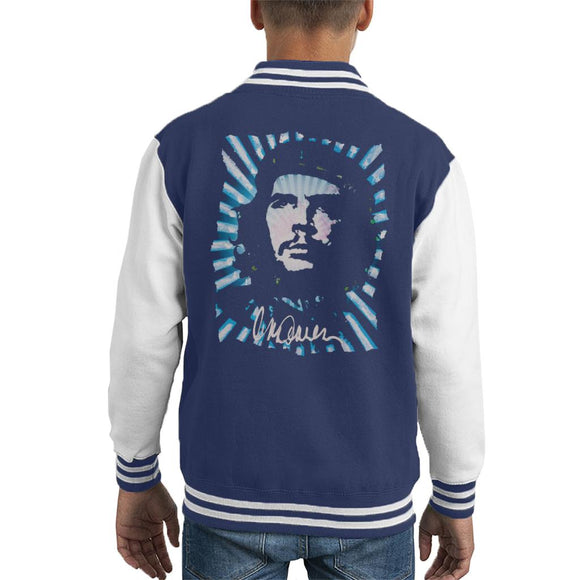 Sidney Maurer Original Portrait Of Revolutionary Che Guevara Kid's Varsity Jacket