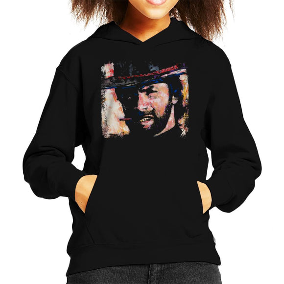 Sidney Maurer Original Portrait Of Actor Clint Eastwood Kid's Hooded Sweatshirt
