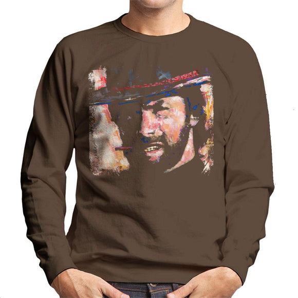 Sidney Maurer Original Portrait Of Actor Clint Eastwood Men's Sweatshirt