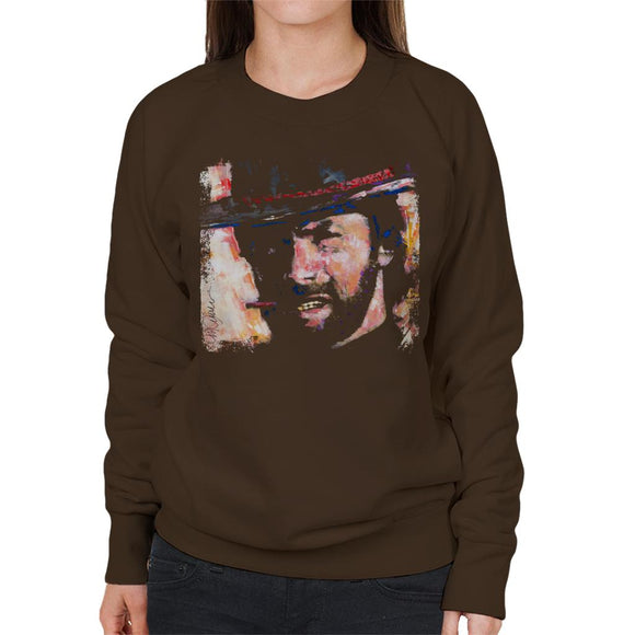 Sidney Maurer Original Portrait Of Actor Clint Eastwood Women's Sweatshirt