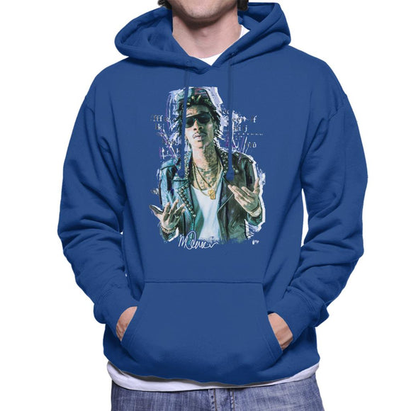 Sidney Maurer Original Portrait Of Rapper Wiz Khalifa Men's Hooded Sweatshirt