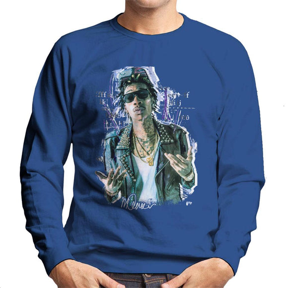 Sidney Maurer Original Portrait Of Rapper Wiz Khalifa Men's Sweatshirt