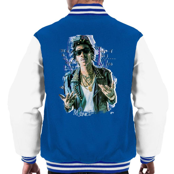 Sidney Maurer Original Portrait Of Rapper Wiz Khalifa Men's Varsity Jacket