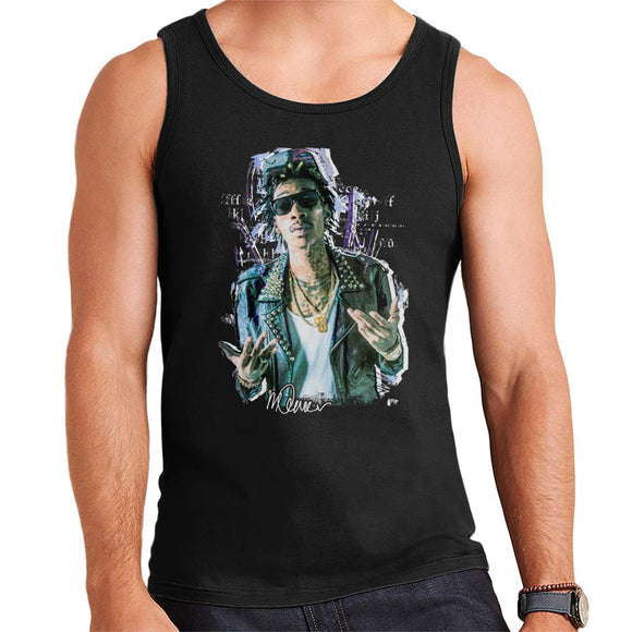 Sidney Maurer Original Portrait Of Rapper Wiz Khalifa Men's Vest