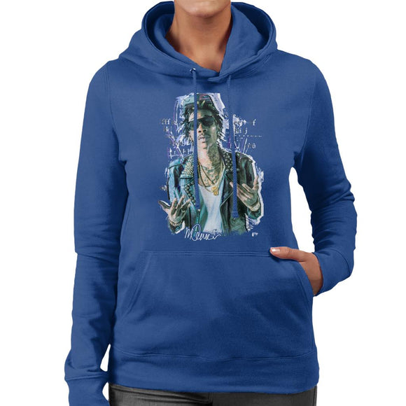 Sidney Maurer Original Portrait Of Rapper Wiz Khalifa Women's Hooded Sweatshirt