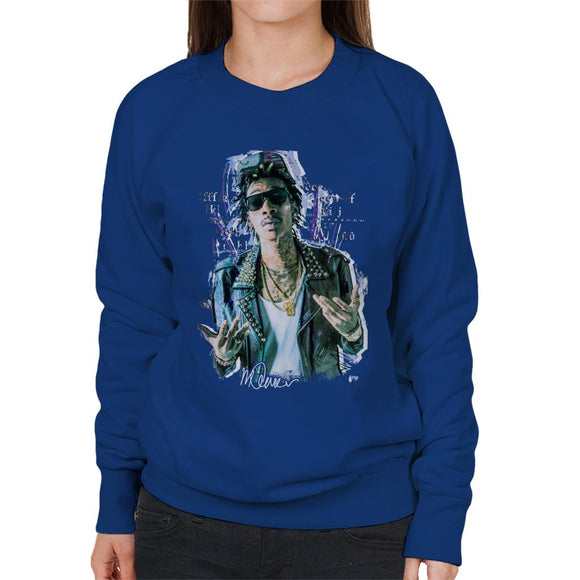 Sidney Maurer Original Portrait Of Rapper Wiz Khalifa Women's Sweatshirt