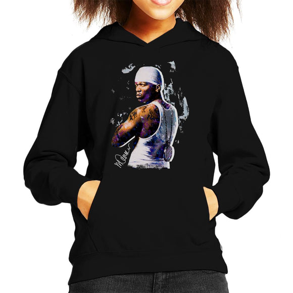 Sidney Maurer Original Portrait Of 50 Cent Bandana Kid's Hooded Sweatshirt