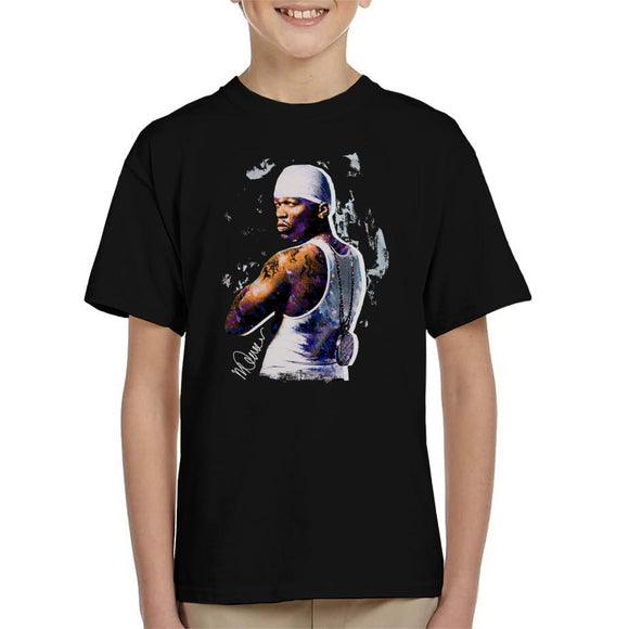 Sidney Maurer Original Portrait Of 50 Cent Bandana Kid's T-Shirt