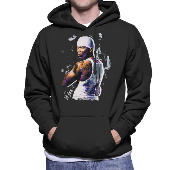 Sidney Maurer Original Portrait Of 50 Cent Bandana Men's Hooded Sweatshirt