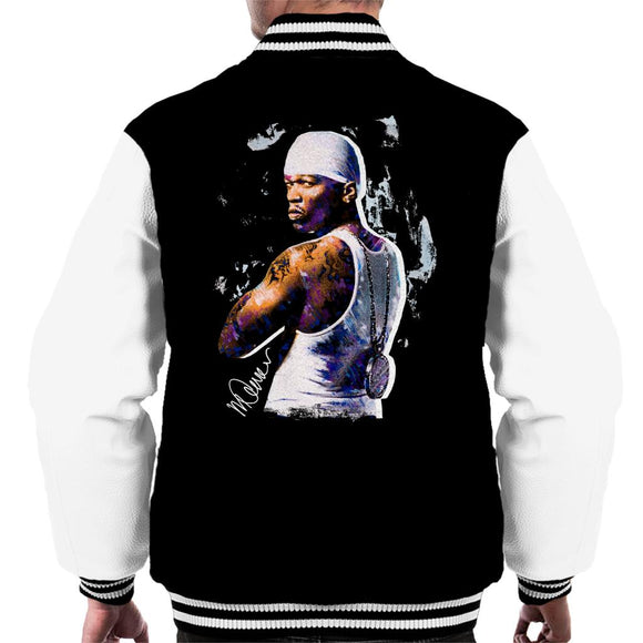 Sidney Maurer Original Portrait Of 50 Cent Bandana Men's Varsity Jacket