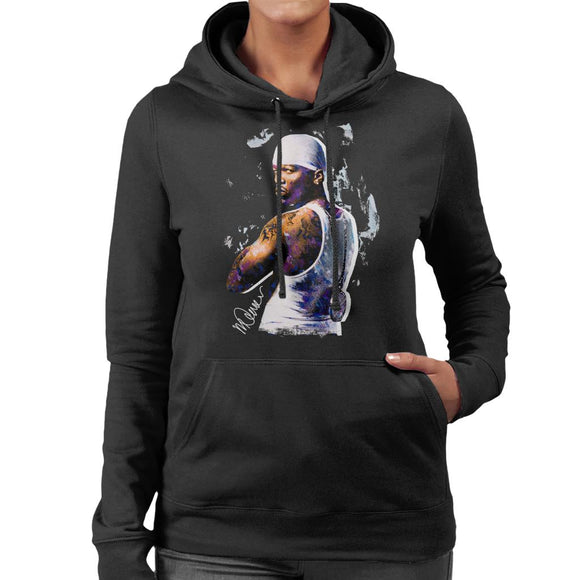 Sidney Maurer Original Portrait Of 50 Cent Bandana Women's Hooded Sweatshirt